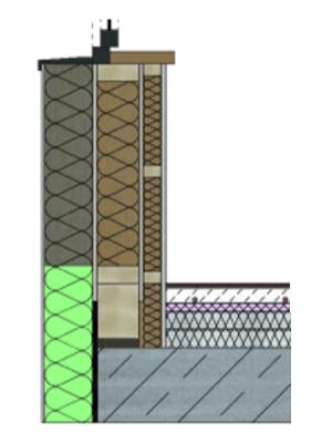 Wandaufbau holzrahmenbau mit installationsebene  Haus Hetzerath